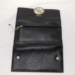 Guess Bags - Guess Wallet Black Faux Leather Tri-fold